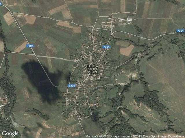 Сателитна карта на Нова бяла река