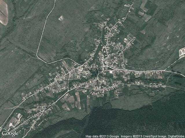 Сателитна карта на Новосел