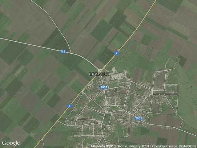 Сателитна карта на Пристое