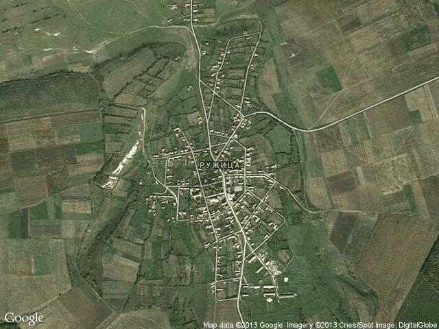 Сателитна карта на Ружица