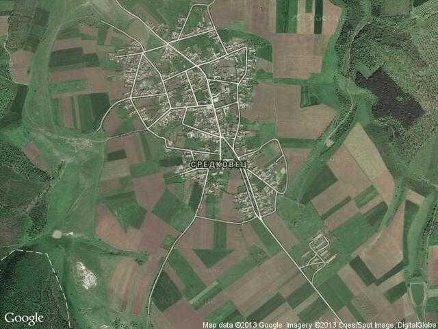 Сателитна карта на Средковец