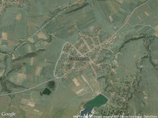 Сателитна карта на Станянци