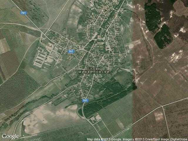 Сателитна карта на Стоян Михайловски