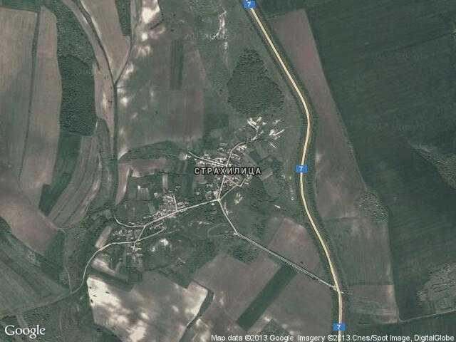 Сателитна карта на Страхилица