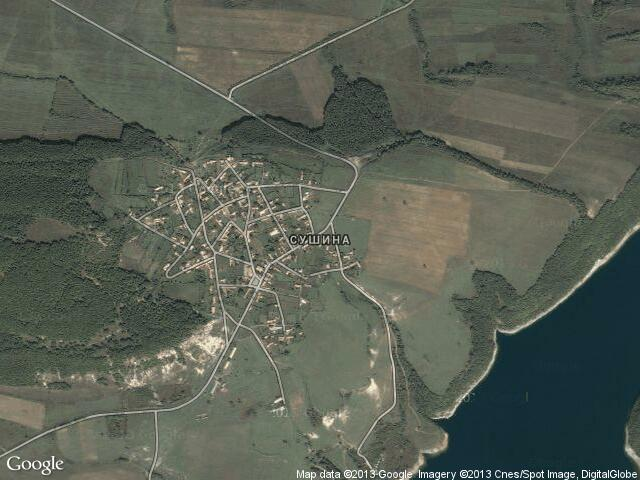Сателитна карта на Сушина
