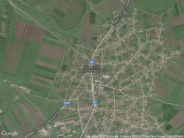 Сателитна карта на Тодор Икономово