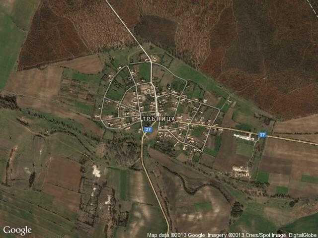 Сателитна карта на Тръница