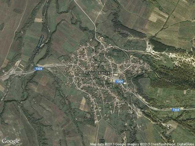 Сателитна карта на Тушовица