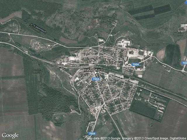 Сателитна карта на Хитрино