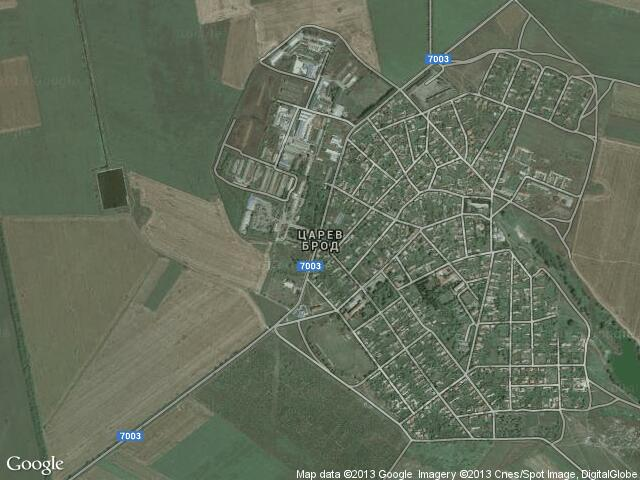 Сателитна карта на Царев брод