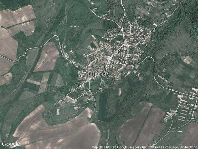 Сателитна карта на Черенча