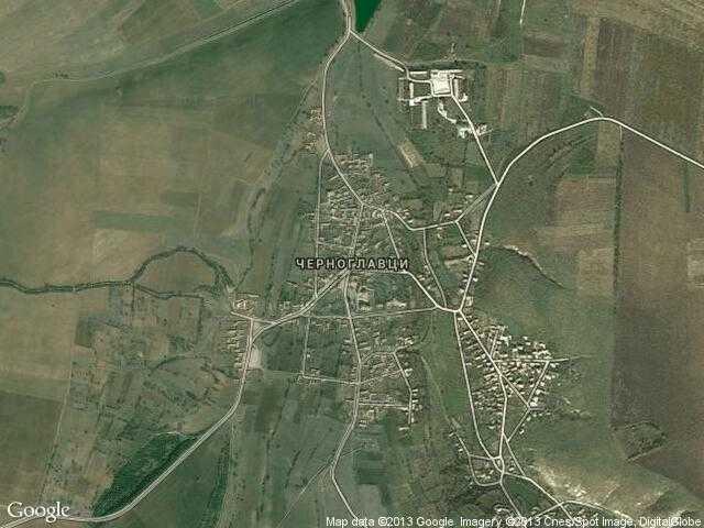 Сателитна карта на Черноглавци