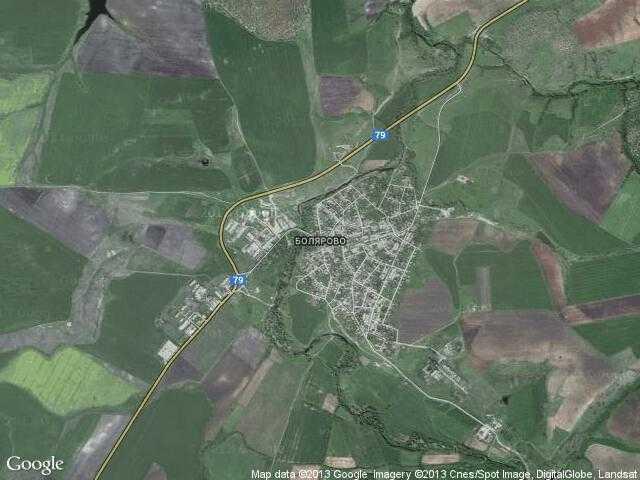 Сателитна карта на Болярово