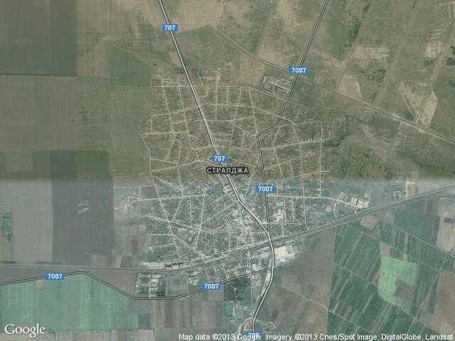 Сателитна карта на Стралджа