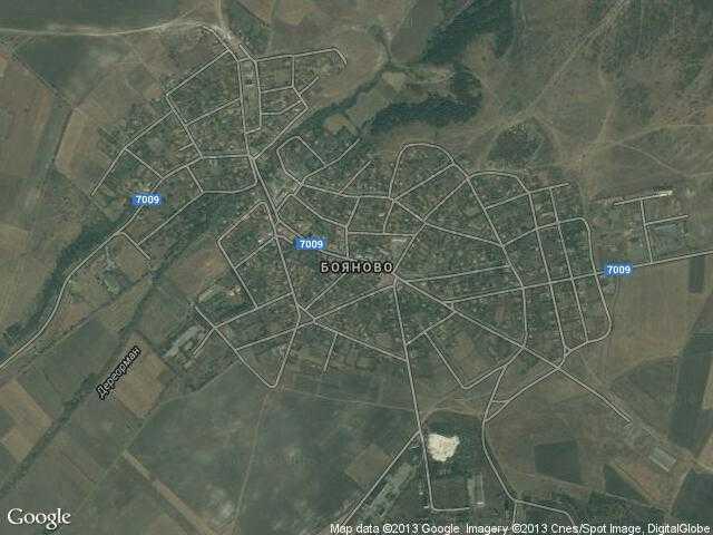 Сателитна карта на Бояново