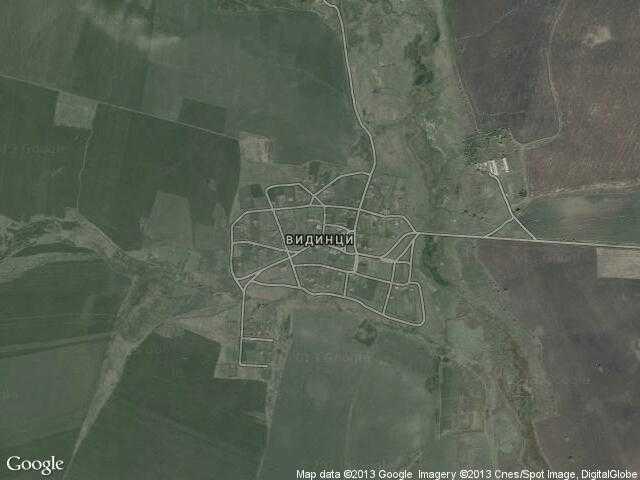 Сателитна карта на Видинци