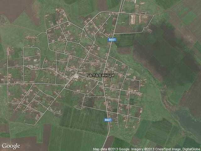 Сателитна карта на Гълъбинци