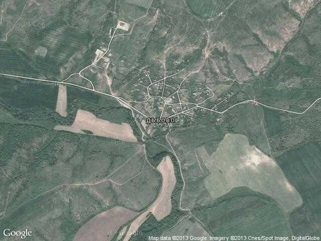 Сателитна карта на Дъбово