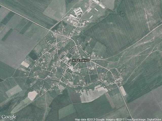 Сателитна карта на Жребино