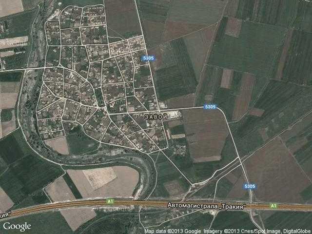 Сателитна карта на Завой