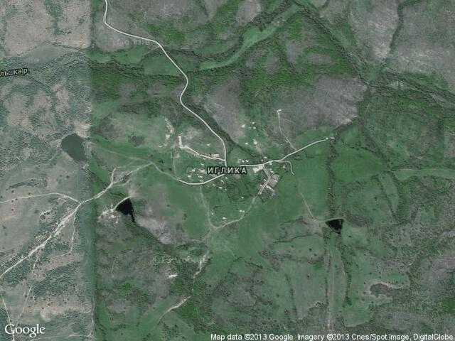 Сателитна карта на Иглика