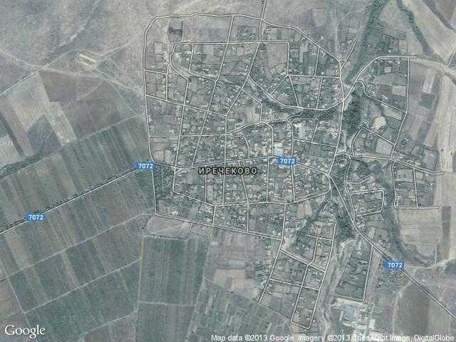 Сателитна карта на Иречеково