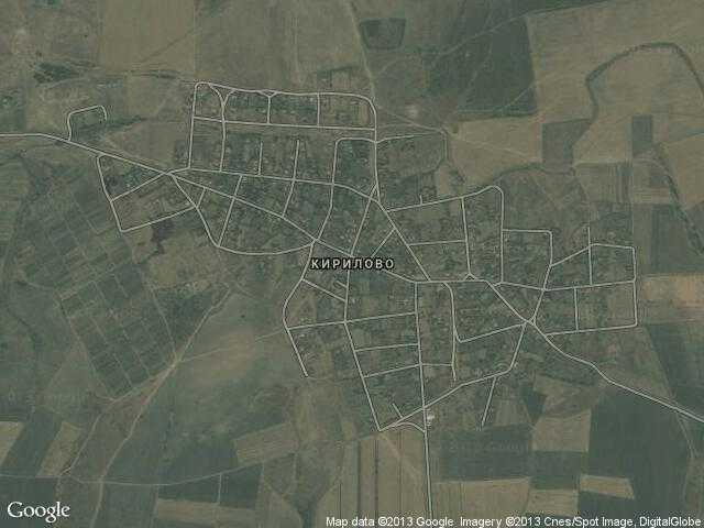Сателитна карта на Кирилово