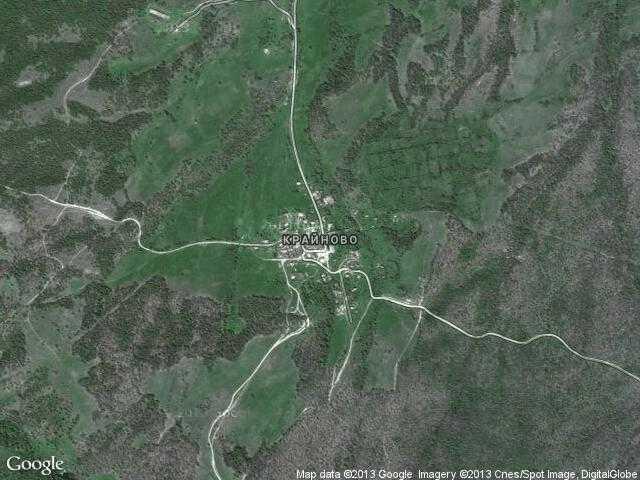Сателитна карта на Крайново