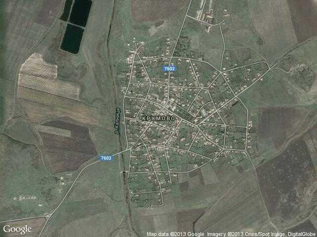Сателитна карта на Крумово