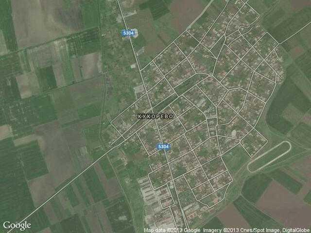 Сателитна карта на Кукорево