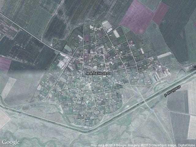 Сателитна карта на Маленово