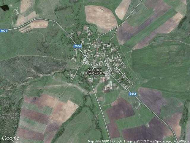 Сателитна карта на Малко Шарково