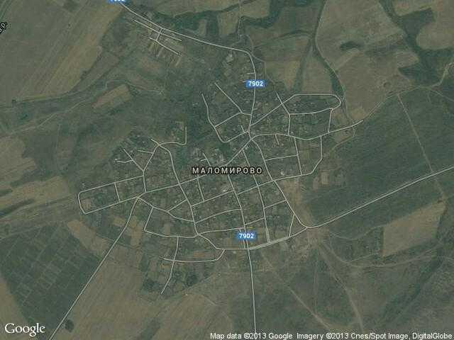 Сателитна карта на Маломирово