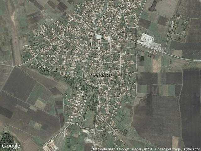 Сателитна карта на Маломир