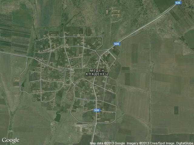 Сателитна карта на Меден кладенец