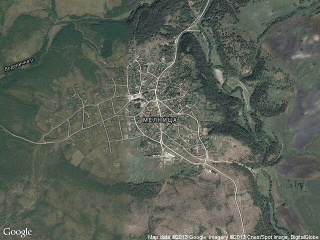 Сателитна карта на Мелница