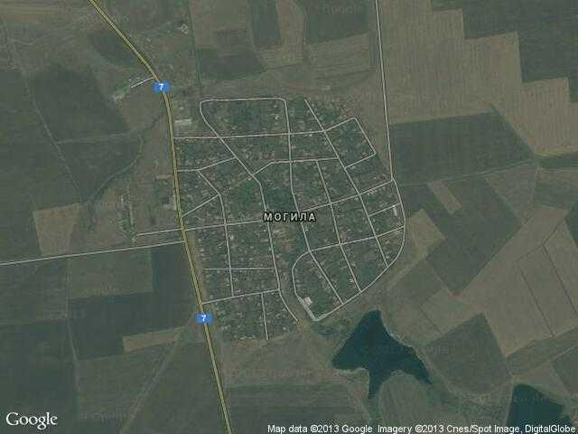 Сателитна карта на Могила