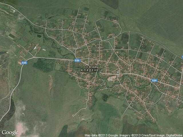 Сателитна карта на Овчи кладенец