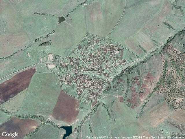 Сателитна карта на Оман