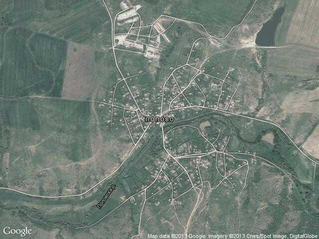 Сателитна карта на Попово