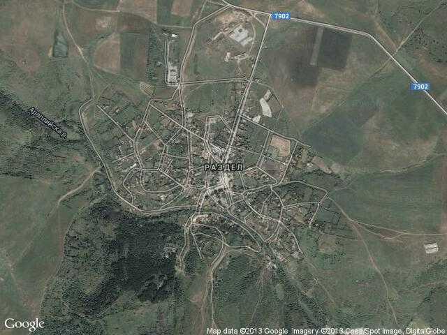 Сателитна карта на Раздел