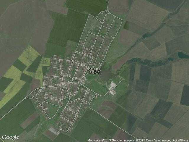Сателитна карта на Стара река