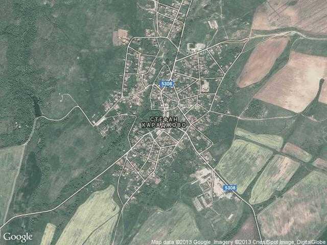 Сателитна карта на Стефан Караджово