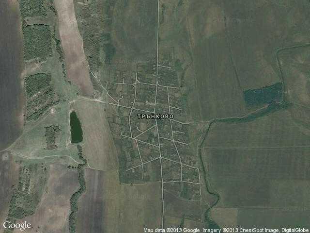 Сателитна карта на Трънково