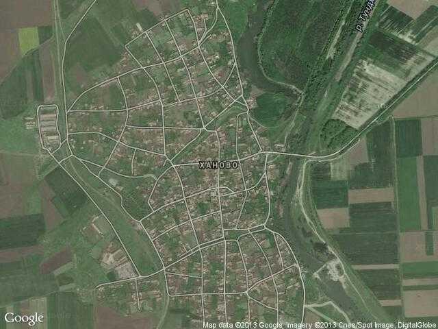 Сателитна карта на Ханово