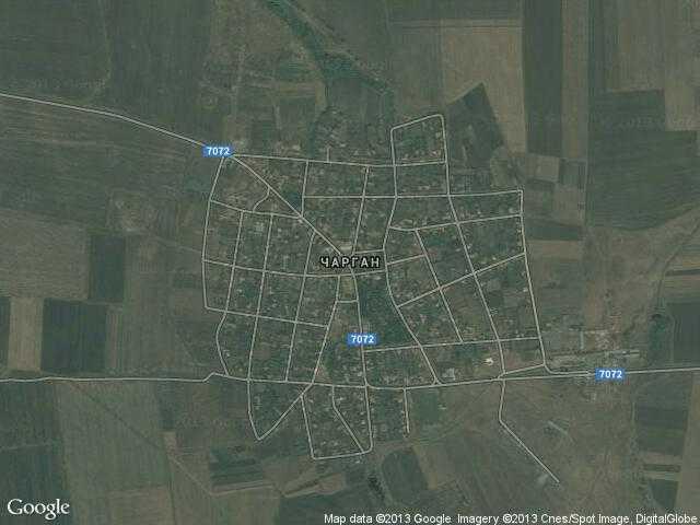 Сателитна карта на Чарган