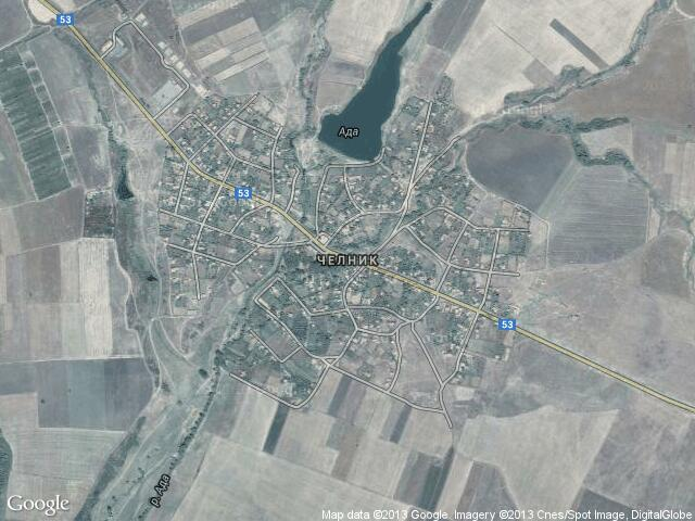 Сателитна карта на Челник